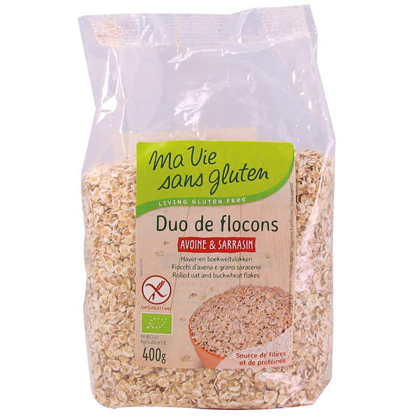 Organic Oats and Buckwheat Flakes - gluten free