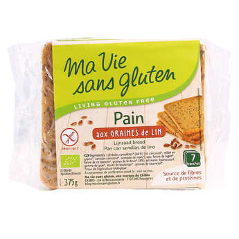 Ma vie sans gluten - Pain bio aux graines de lin - sans gluten