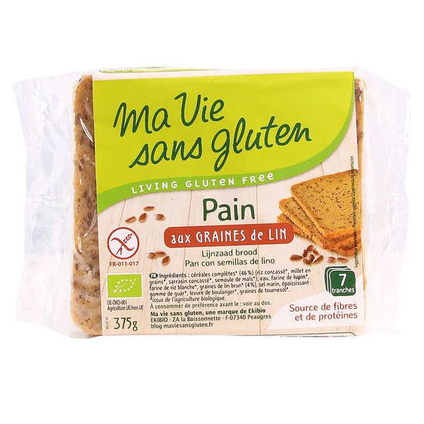 Pain bio aux graines de lin - sans gluten