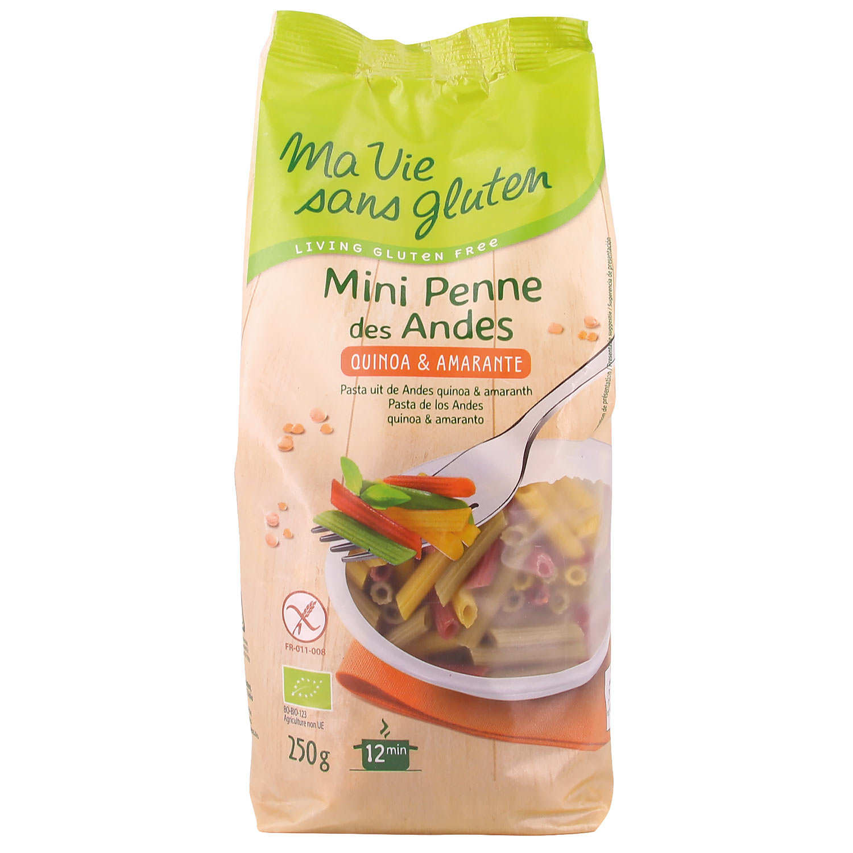Mini Penne des andes - pâtes bio multicolores au quinoa sans gluten
