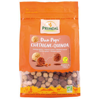 Priméal - Organic Chataign'pops - Crunchy chesnuts pops