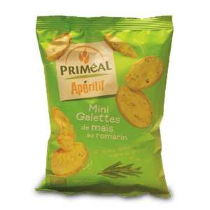 Priméal - Mini organic corn cakes with rosemary