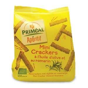 Priméal - Mini crackers bio à l'huile d'olive et au romarin