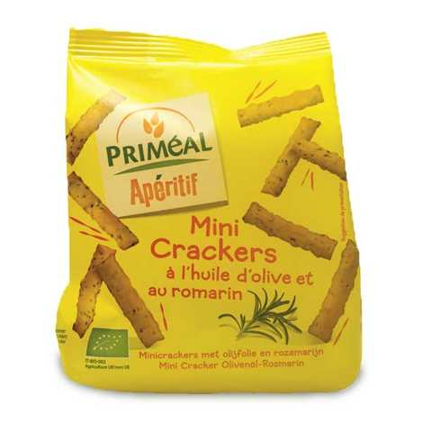 Priméal - Mini Organic Olive oil and Rosemary Crackers