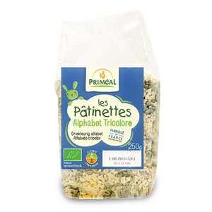 Priméal - Organic Pasta 3 colors Alphabets