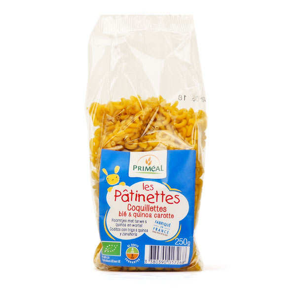Wheat, Quinoa and Qarrots Macaroni - Organic Pasta
