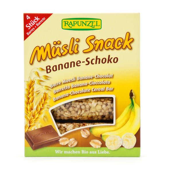 Barre de céréales muesli au chocolat noir et banane bio