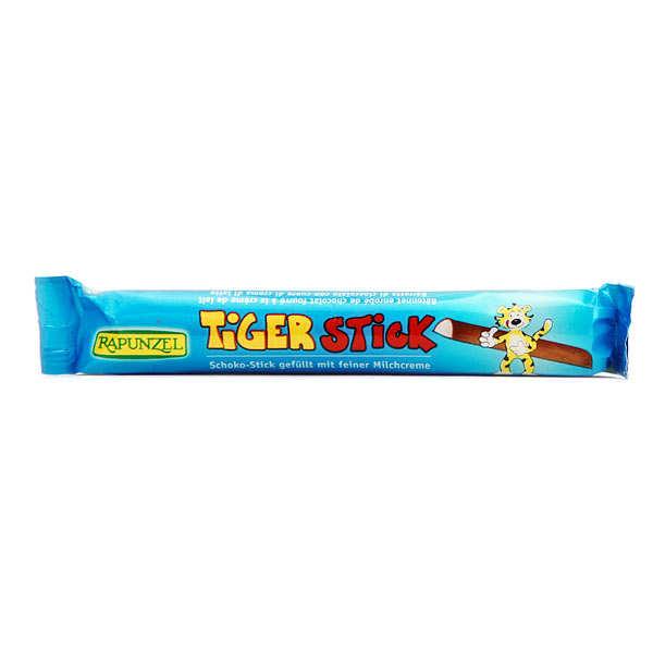 Stick Tiger bio crème de lait enrobée de chocolat au lait