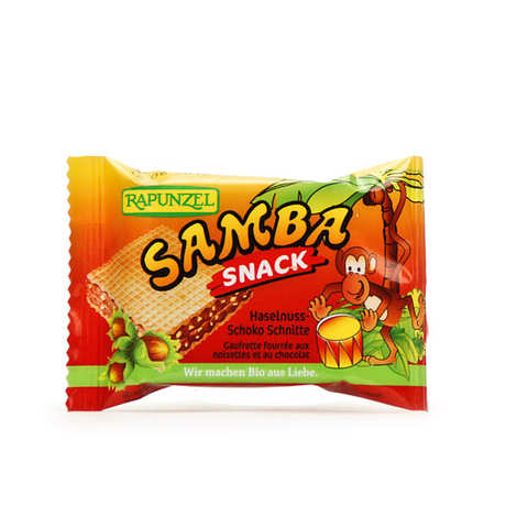 Rapunzel - Organic Samba Snack, Biscuit stuffed with chocolate spread