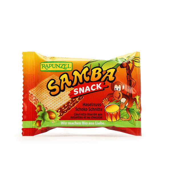 Organic Samba Snack, Biscuit stuffed with chocolate spread