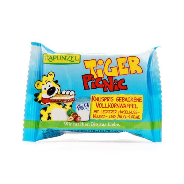 Tiger snack bio, Gaufrette fourrée au chocolat et à la crème de lait