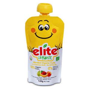 Elite Naturel - Organic Purée of Banana, apple, pear and peach