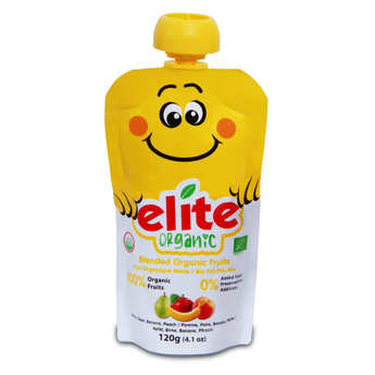 Elite Naturel - Organic Purée of Banana, apple, pear and peach