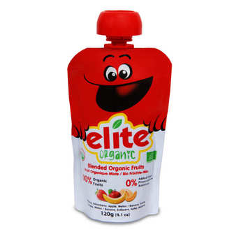 Elite Naturel - Organic Purée of Banana, apple, Strawberry and Melon