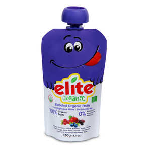 Elite Naturel - Organic Purée of Apple, Blueberry, Blackberry and Cranberry