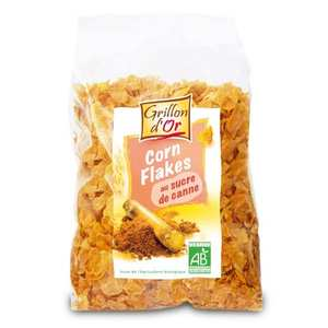 Grillon d'or - Corn Flakes bio glacés au sucre de canne