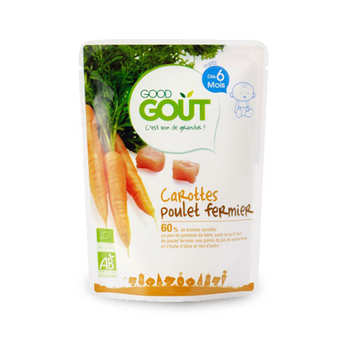 Good Goût - Carrots and Range Chicken - Organic Small Flat From 6 months