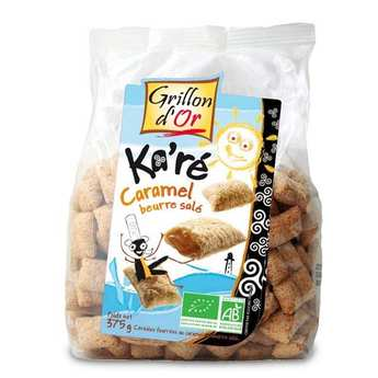 Grillon d'or - Organic Crunchy Wheat Cereals Stuffed with salted toffee