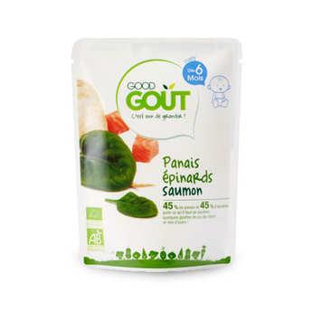 Good Goût - Panais, épinards et saumon - Petit plat  bio dès 6 mois