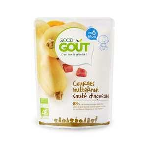 Good Goût - Butternut squash and sautéed lamb - Organic Small Flat From 6 months
