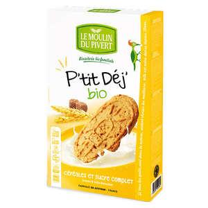 Le Moulin du Pivert - Biscuits P'tit déj' bio Céréales et sucre complet