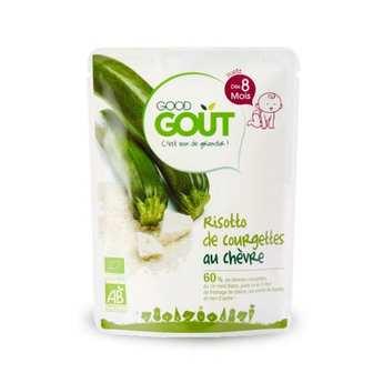 Good Goût - Risotto de courgettes au chèvre - Petit plat  bio dès 8 mois