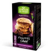 Le Moulin du Pivert - Cookies bio fourrés au chocolat