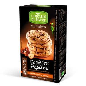 Le Moulin du Pivert - Cookies bio aux pépites de chocolat et aux noisettes
