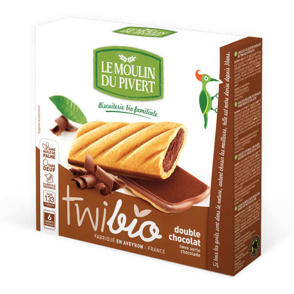 Twibio - Organic Biscuits with Milk Chocolate