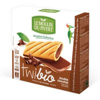 Le Moulin du Pivert - Twibio - Biscuit bio fourré chocolat