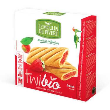 Twibio - Biscuit bio fourré à la fraise