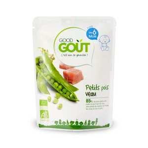 Good Goût - Petits pois et veau - Petit plat  bio dès 6 mois