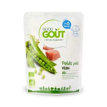 Good Goût - Peas and Veal - Organic Small Flat From 6 months