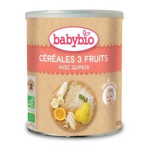 Baby Bio - Céréales bio 3 fruits et quinoa dès 6 mois