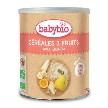 Céréales bio 3 fruits et quinoa dès 6 mois