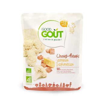 Good Goût - Choux-fleurs, jambon et parmesan - Petit plat  bio dès 12 mois