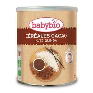 Baby Bio - Céréales bio cacao et quinoa dès 6 mois