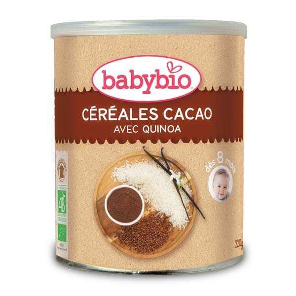 Céréales bio cacao et quinoa dès 6 mois