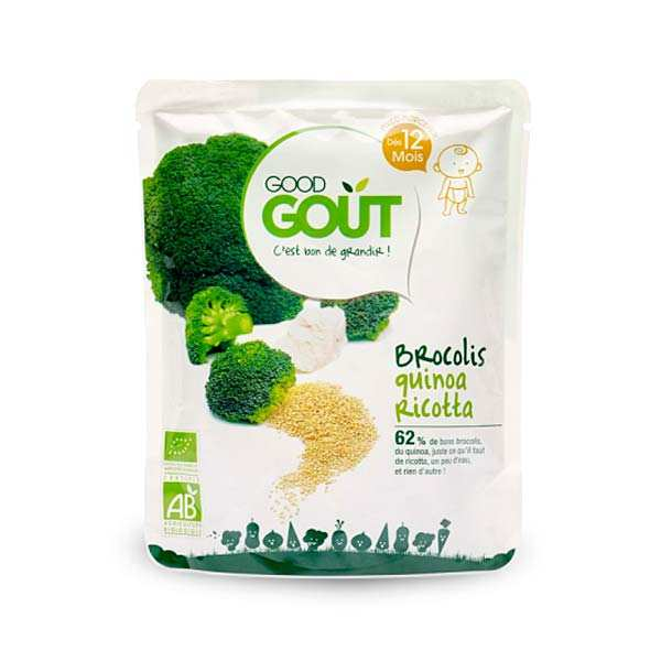 Broccoli, Quinoa and Ricotta - Organic Small Flat From 12 months