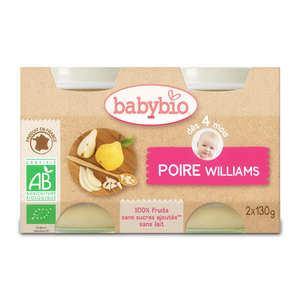 Baby Bio - Petits pots bio poire williams dès 4 mois