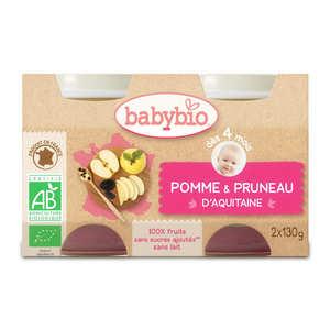 Baby Bio - Petits pots bio pomme pruneau dès 4 mois