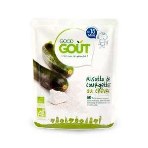 Good Goût - Risotto de courgette au chèvre - Petit plat  bio dès 15 mois