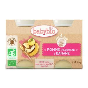 Baby Bio - Petits pots bio pomme banane dès 4 mois