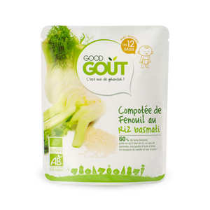Good Goût - Fennel and Basmati Rice Compote - Organic Small Flat From 12 months