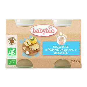 Baby Bio - Organic Apple and Biscuit Baby food jar from 4 months