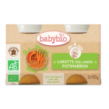 Organic Carrots and Pumpkins Baby food jar from 4 months
