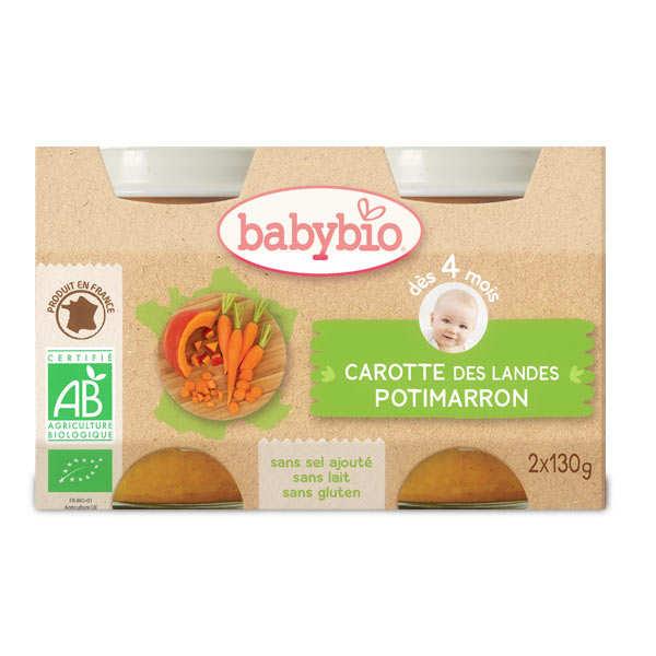 Petits pots bio carottes potimarron, dès 4 mois