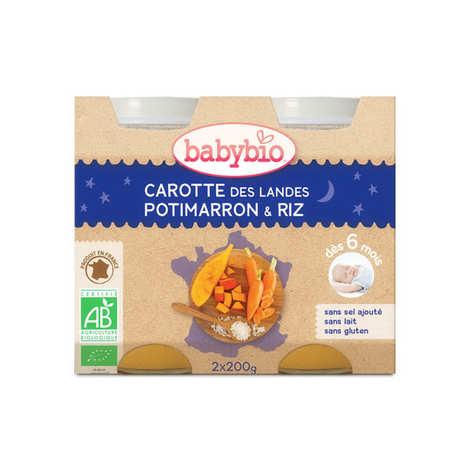 Baby Bio - Petits pots bio carotte, potimarron et riz , dès 6 mois