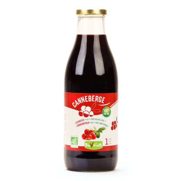 100% pure organic cranberry juice