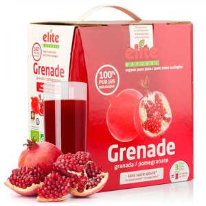 Elite Naturel - Pure organic pomegranate juice in 3L bag in box